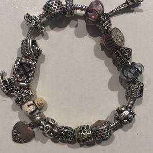 Faux Pandora bracelet.